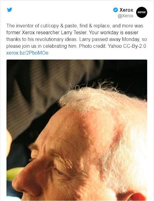 وفاة لورنس تيسلر مخترع الـــ Copy Paste