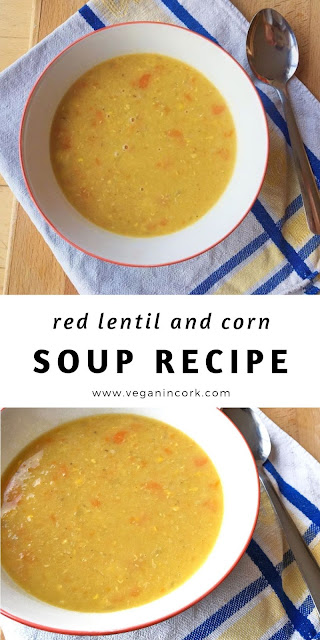 Red lentil and corn soup recipe