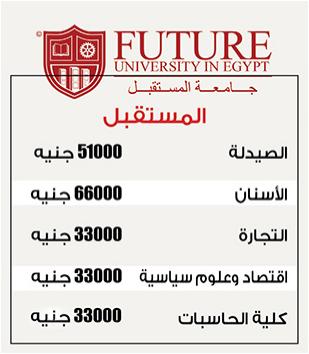 مصروفات جامعة المستقبل الخاصة 2017 مصاريف جميع كليات جامعة المستقبل