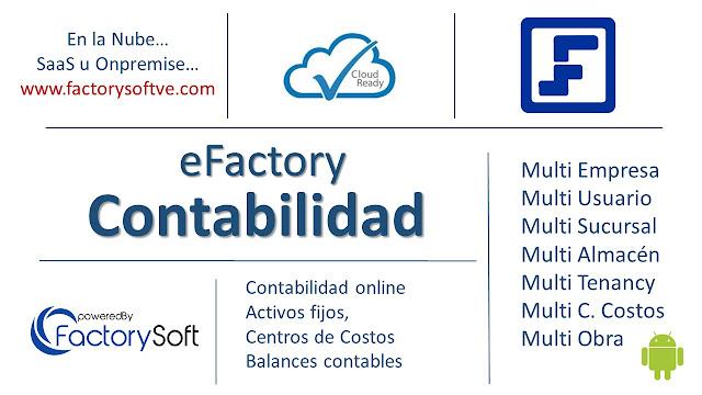 Libro Mayor por Cuenta Contable y Auxiliar en eFactory Software Contable en Nube