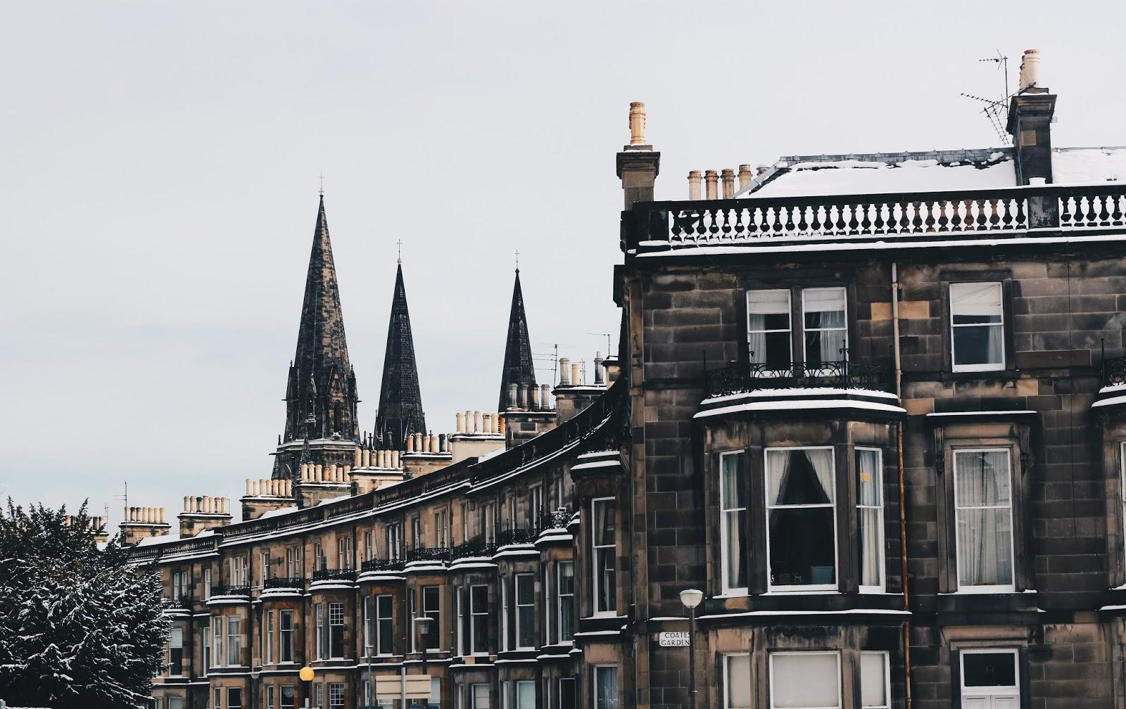 Zimowe dni w Edynburgu