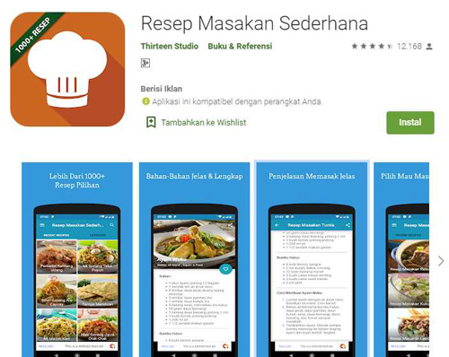 aplikasi android resep buka puasa