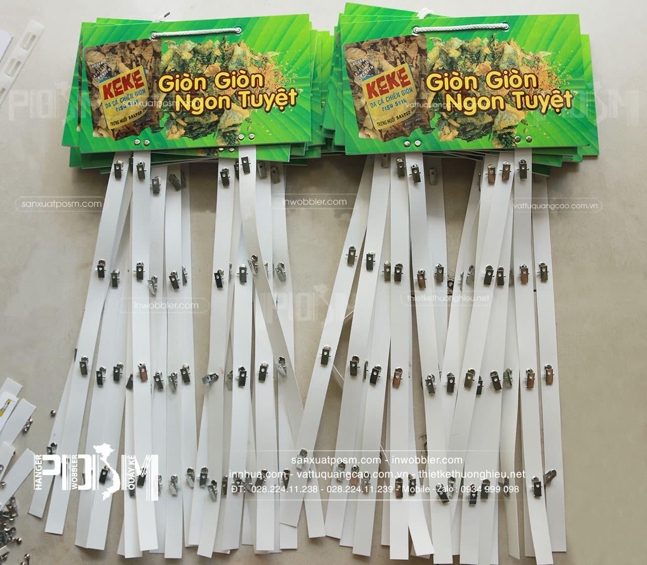 hanger bảng treo dây nhựa kẹp sắt