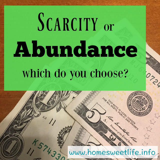 scarcity versus abundance, choosing your mindset, trusting God