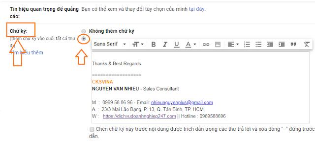 Hướng dẫn Tạo chữ ký Gmail cá nhân hay