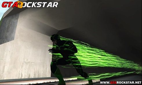Electric Green - Custom Flash Mod (Poderes do Flash) para GTA SA