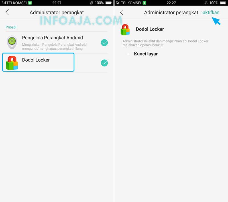 Menonaktifkan Administrator Perangkat Android