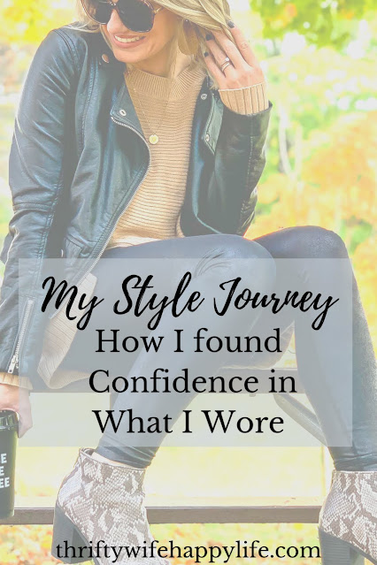 My personal style journey.  Finding confidence in what you wear.