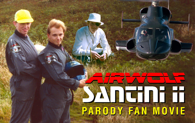 """SANTINI II"" - the original Airwolf Fan Movie parody from 1993, produced by British Airwolf fan ,Tristan P. Barratt and his pals Saxon J. Bulloch and David R. Simpson on a shoe-string budget."