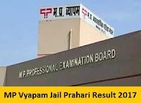 MP Vyapam Jail Prahari Result