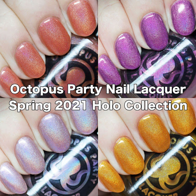 Octopus Party Nail Lacquer Spring 2021 Holo Collection