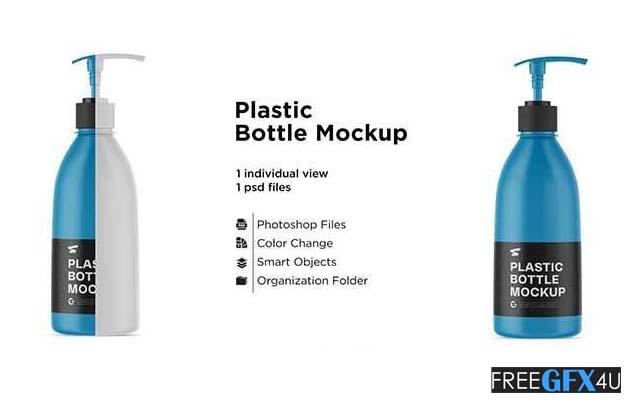 Matte Colored Liquid Bottle Mockup