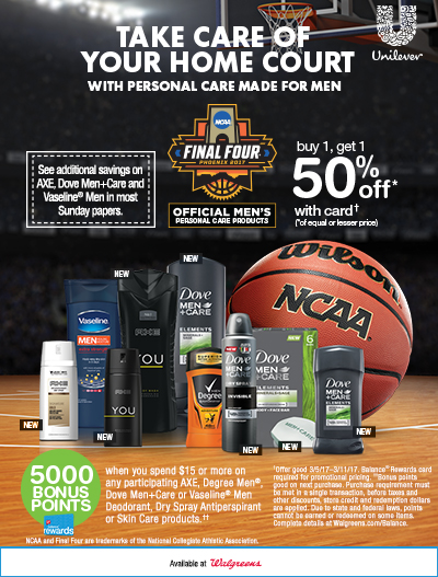 Life With 4 Boys: Save Big on NCAA Unilever Men's Grooming Products