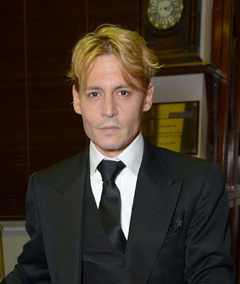 Johnny Depp's New Hair yellow color