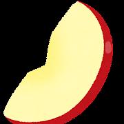 スライスされたリンゴのイラスト