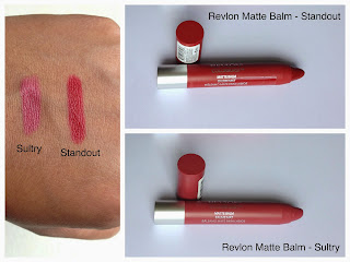Revlon colorburst matte balm sultry and standout swatched on dark skin woc