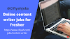 Online content writer jobs for fresher