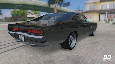 Download mod carro Dom Toreto, Dodge Charger RT 1970 FnF 7 para GTA San Andreas, GTA SA PC