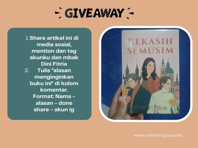giveaway berhadiah novel