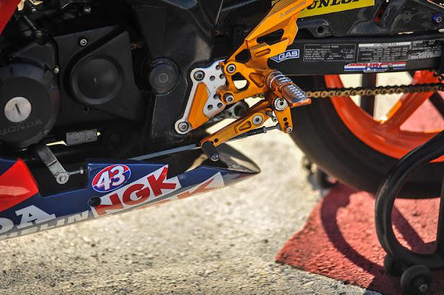Modifikasi CBR150 Road Race Pakai Fairing Buta Milik Tubagus Elang
