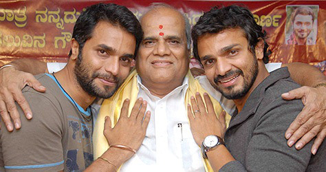 Sriimurali with his father and brother