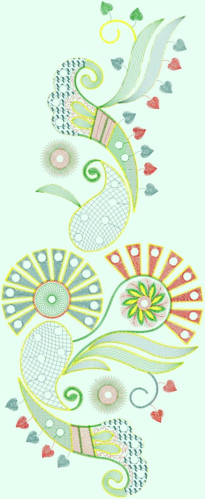 Embdesigntube Balochi Patchwork Computer Embroidery Designs
