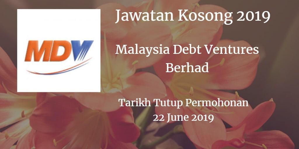 Jawatan Kosong Malaysia Debt Ventures Berhad 22 June 2019