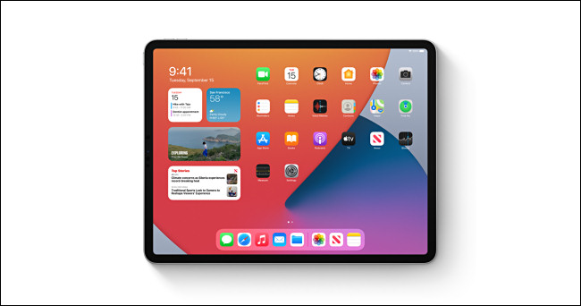 جهاز Apple iPad يعمل بنظام iPadOS 14