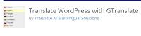 GTranslate utiliza el servicio de traducción automática de Google