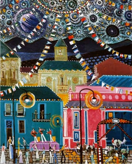 Obra de arte en venta Manuel Carmona: pintura fiesta