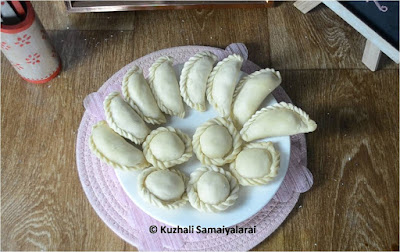 Chandrakala  and suriyakala sweet recipe - how to make chandrakala &sooriyakala-Diwali recipes