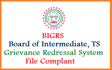 Telangana State Board of Intermediate Education TSBIE launched Online Grievance Services for the sake of students and Parents to lodge complants against problems facing by the students because of colleges. BIGRS Board of Intermediate Grievance Redressal System Telangana official website to submit complants by students related to Exam Fee, Holidays/ Vacations Students Online Services, Hall Tickets, Memo and Results. Know here how to Submit Complant Online at BIGRS website http://bigrs.telangana.gov.in/ ts-board-of-intermediate-grievance-redressal-system-bigrs.telangana.gov.in-file-complant