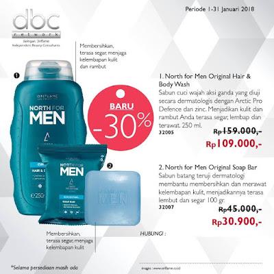 North For Men Original Hair & Body Wash