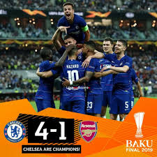 Football Highlights: Chelsea 4 - 1 Arsenal (Europa League Cup) Highlight 2018/2019