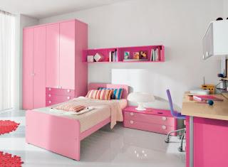 cuarto rosa y blanco niña