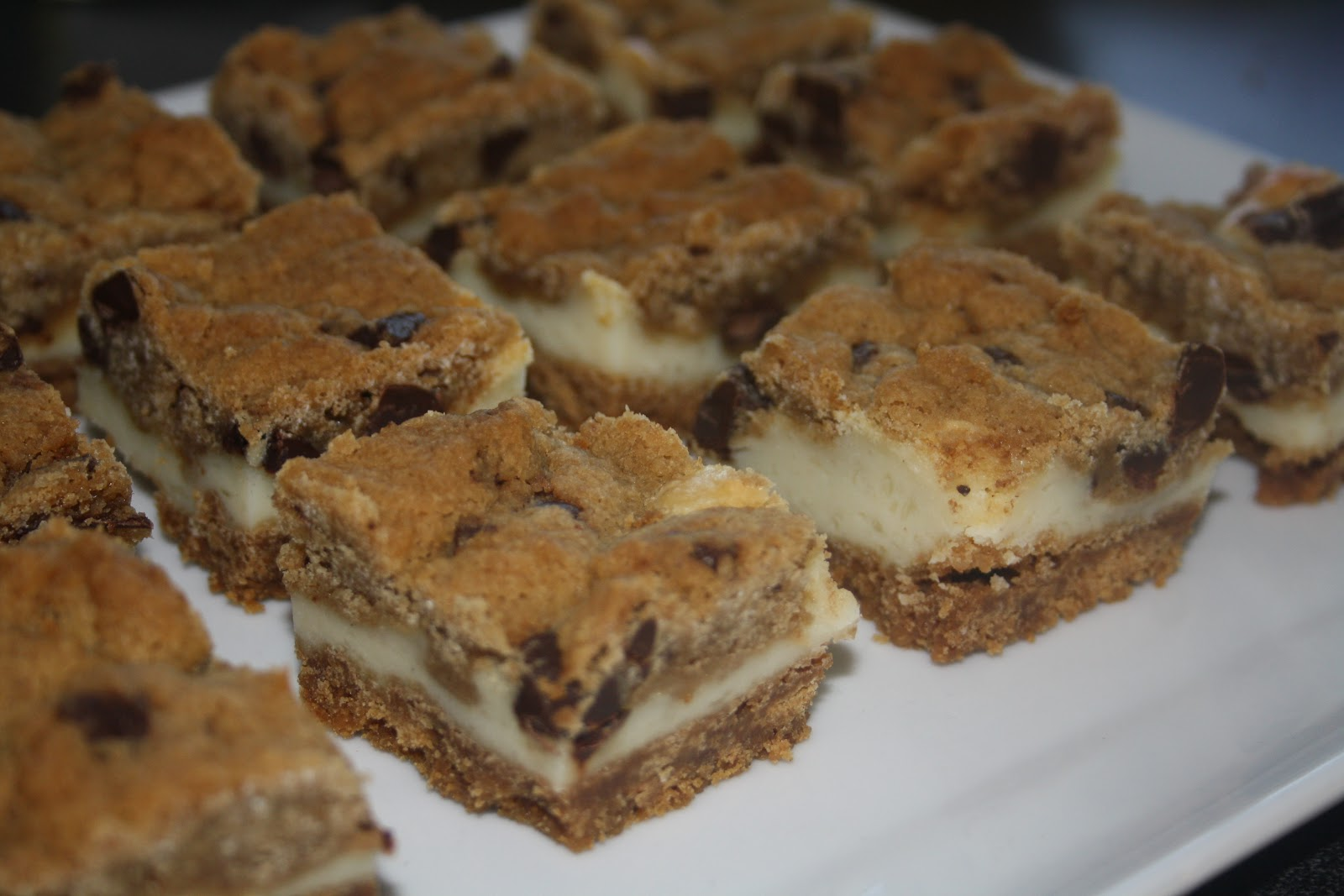 Soft-Baked Chocolate Chip-Cream Cheese Cookie Bars Recipe ... |Cream Cheese Cookie Bars