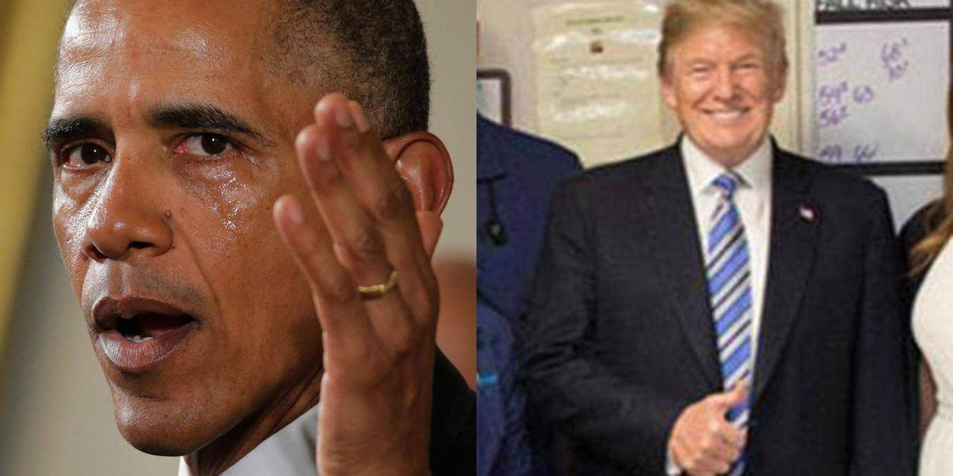 Two Thought-Provoking Pictures Reveal The Difference Between Obama And Trump