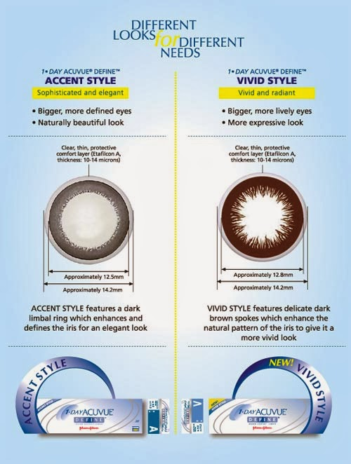 Acuvue 2 Define Vivid Style - Way Too Natural Color Lens