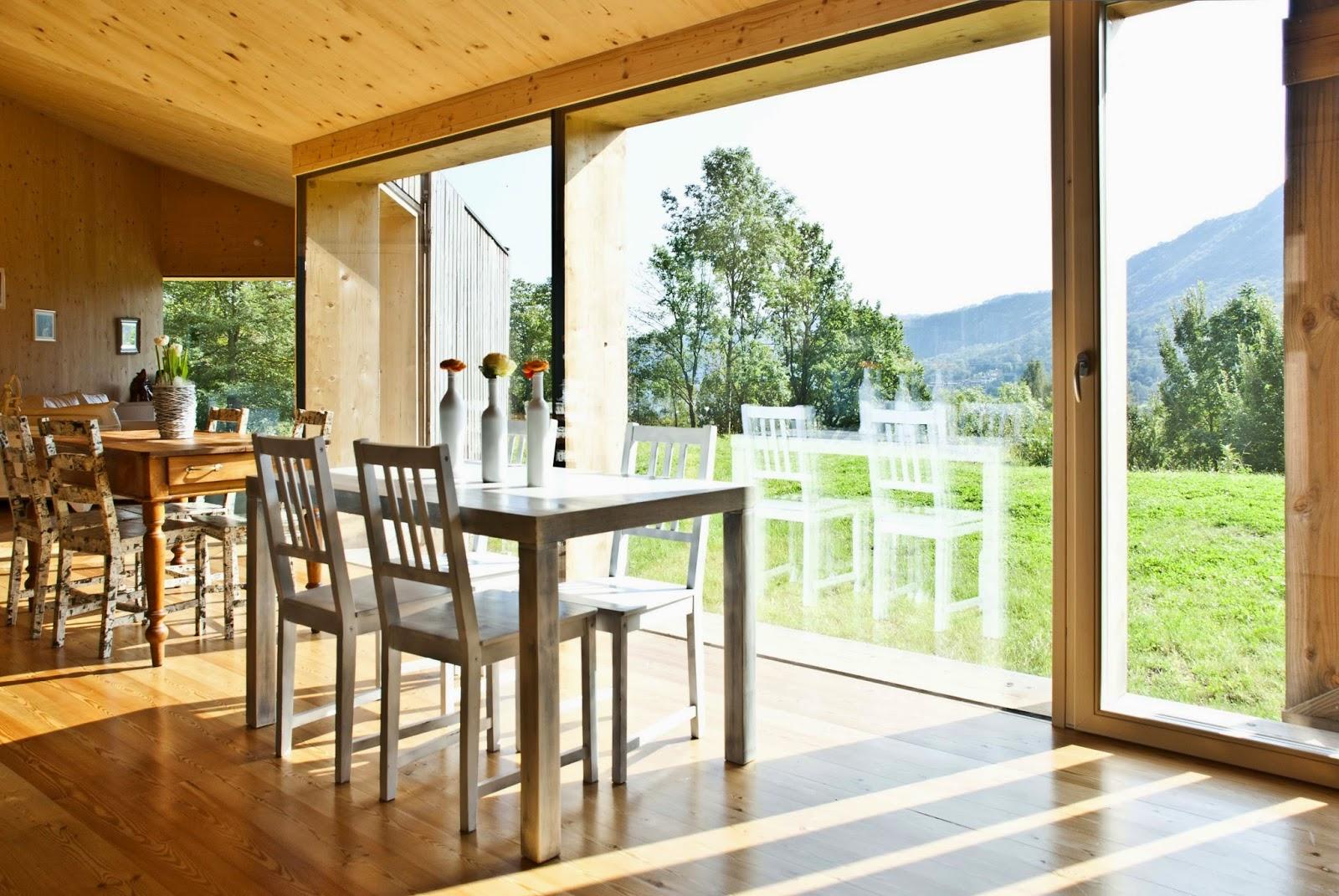 Interno Casa Passiva in legno