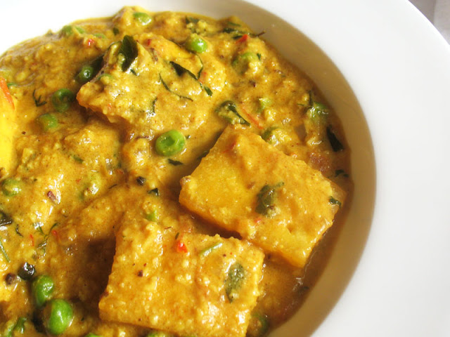 paneer cheese pea curry