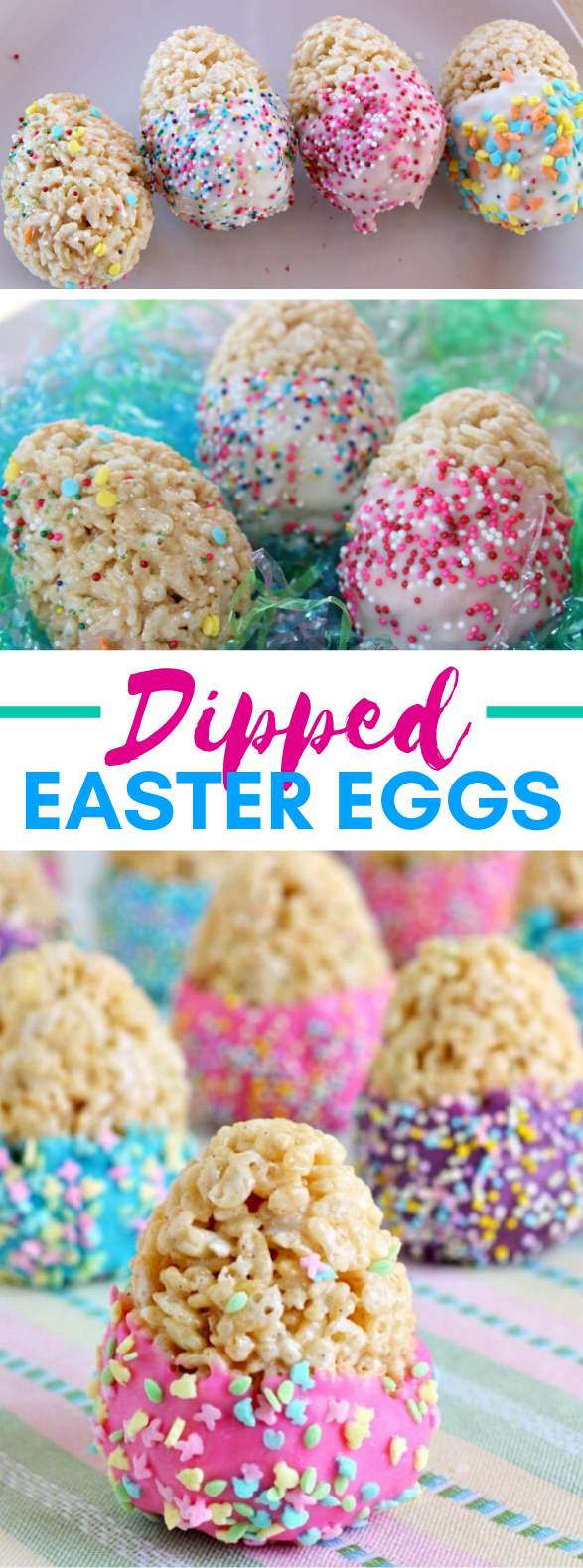 DIPPED EASTER EGG TREATS #desserts #partyrecipe