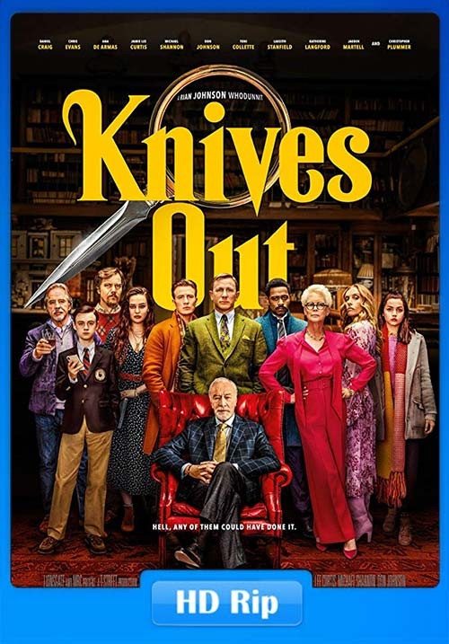 Knives Out 2019 720p WEBRip x264 | 480p 300MB | 100MB HEVC Poster