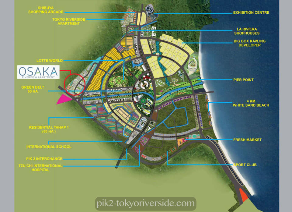 Lokasi Osaka RiverView Apartment