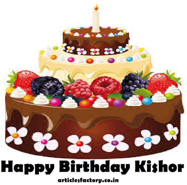 Happy Birthday Kishor Cake HD images Download Free