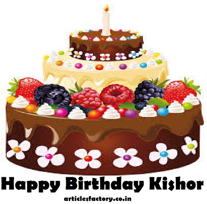 Happy Birthday Kishor Cake HD images Download Free