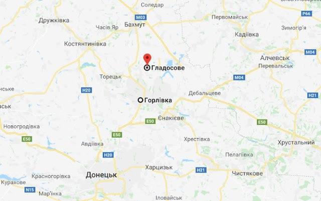 Карта района Горловки