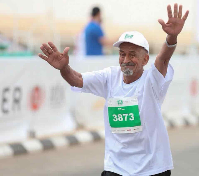 79 YEAR OLD MAN BECAME OVERNIGHT SENSATION AT RIYADH MARATHON