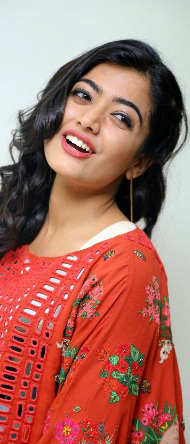 Actress Rashmika mandanna Smile Mobile Wallpaper