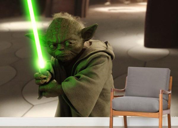Tapetti Lastenhuoneeseen 3D Tähtien Sota Tapetti Lasten Tapetti Star Wars Yoda