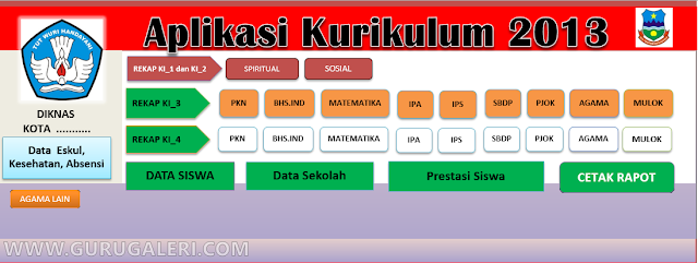 Download Aplikasi Raport Kurikulum 2013 Hasil Revisi 2016-2017